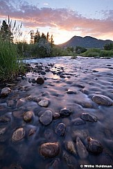 Provo River Rock Sunset