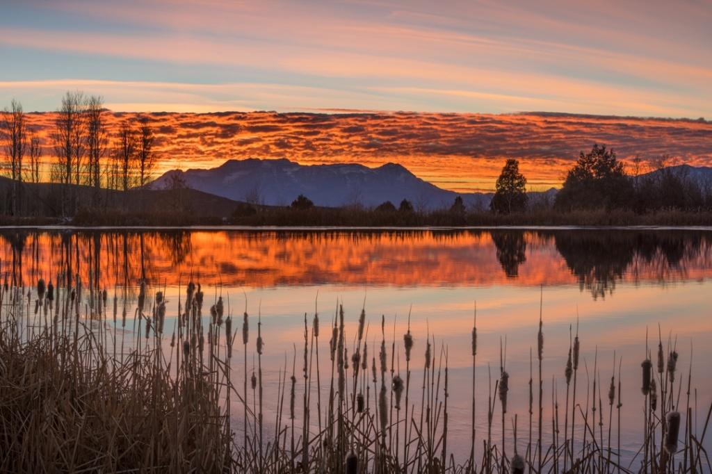 Timpanogos Pond Sunset 111816 2200
