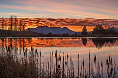 Timpanogos Pond Sunset 111816 2200