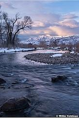 Provo River Slate Blue Sunset 022719 8822