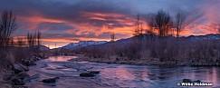 Provo River Sunset 24x60 020818 2006