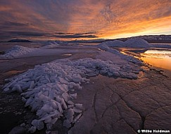 Utah Lake Sunset Ice 021117 4602