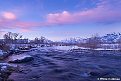Provo River with timpanogos from Heber Valley, Utah