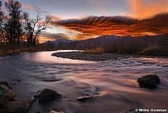Provo River Orange Sky 111317 8468F