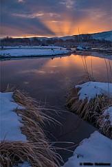Sunrise Rays Provo River 011919 3269