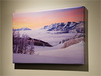 Stretched Metallic Print Option for Willie Holdman Photographs