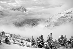 Cascade Clouds BW 021512 50