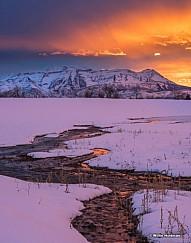 Timpanogos Sunset Stream 02917