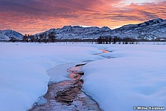 Red Sunset Winter Stream 020117 3265