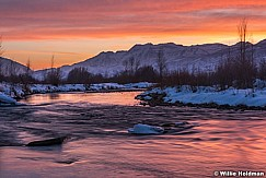 Provo River Timpanogos Sunset 020816 2811