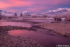Provo River Pink Reflections 122119 9697 5