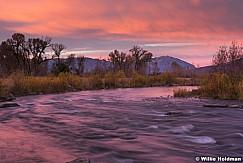 Provo River in Heber Valley at sunrise, Utah