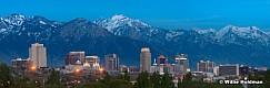 Salt Lake City Dusk 20x60 051113