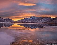 Timpanogos Reflection Sunset 010814 7682