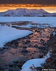 Timpanogos Lake Creek Sunset 6x7 013020 3217