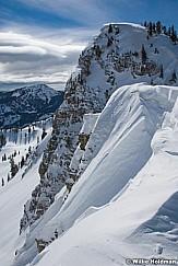 Cottonwood Ridge Line in winter with cornice, Utah