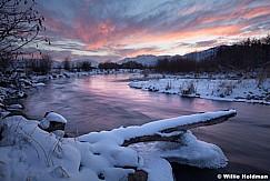 Provo River Winter Sunset 011713 33