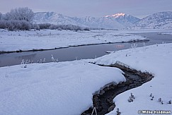 Winter Stream Timpanogos Sunset 012816 0547