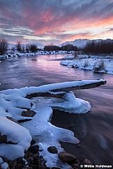 Provo River Winter Sunset 011713 47