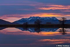 Timpanogos Reflection Sunset 112517