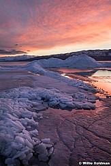 Utah Lake Sunset Ice 021117 4630
