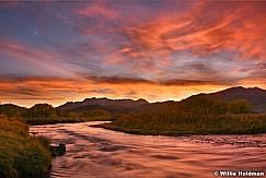 Provo River Amazing Sunset 102317 7x7.5