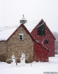 Snowmen Midway Barn 010715