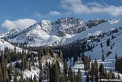 Devils Castle Ski Tracks