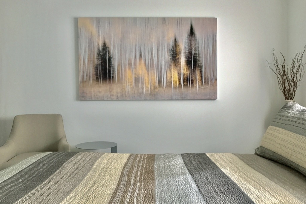 Abstract aspens and pines