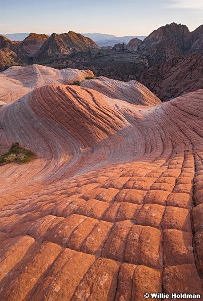 Sandstone Wave at sunset St. George Utah 2937