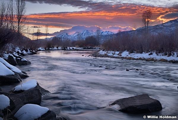 Provo River Sunset Timp 120219 5
