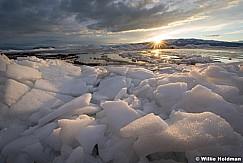 Utah Lake Sunset Ice 021117 4488