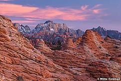 Zion West Temple sunset 121919 9494